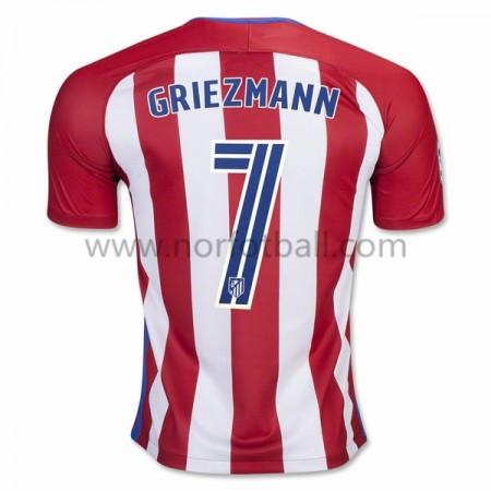 Billige Fotballdrakter Atletico Madrid 2016-17 Griezmann 7 Hjemme Draktsett Kortermet