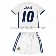 Billige Fotballdrakter Real Madrid 2016-17 James 10 Barn Hjemme Draktsett Kortermet..