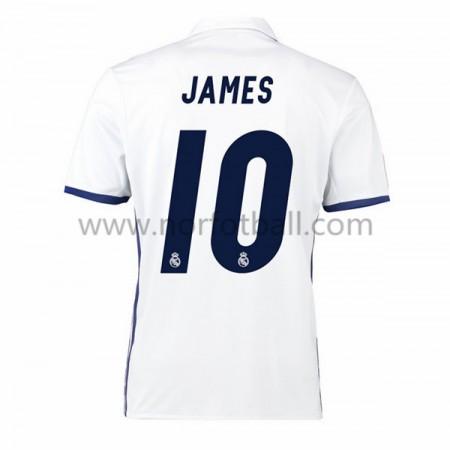 Billige Fotballdrakter Real Madrid 2016-17 James 10 Hjemme Draktsett Kortermet