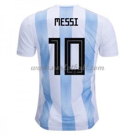 Argentina 2018 Lionel Messi 10 Landslagsdrakt Kortermet Hjemme Fotballdrakter