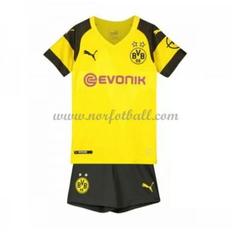 Billige Fotballdrakter BVB Borussia Dortmund Barn 2018-19 Hjemme Draktsett Fotball Kortermet