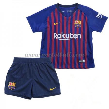 Billige Fotballdrakter Barcelona Barn 2018-19 Hjemme Draktsett Fotball Kortermet