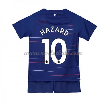 Billige Fotballdrakter Chelsea Barn 2018-19 Eden Hazard 10 Hjemme Draktsett Fotball Kortermet