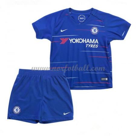 Billige Fotballdrakter Chelsea Barn 2018-19 Hjemme Draktsett Fotball Kortermet