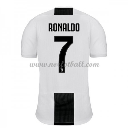 Billige Fotballdrakter Juventus 2018-19 Cristiano Ronaldo 7 Hjemmedrakt Kortermet