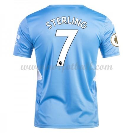 Billige Fotballdrakter Manchester City 2017-18 Raheem Sterling 7 Hjemmedrakt Kortermet