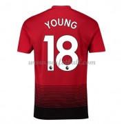 Billige Fotballdrakter Manchester United 2018-19 Ashley Young 18 Hjemmedrakt Kortermet..