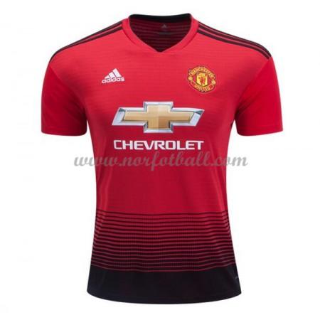 b19df644 Billige Fotballdrakter Manchester United 2018-19 Hjemmedrakt Kortermet