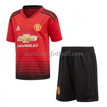 Billige Fotballdrakter Manchester United Barn 2018-19 Hjemme Draktsett Fotball Kortermet