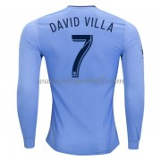 Billige Fotballdrakter New York City 2017-18 David Villa 7 Hjemmedrakt Langermet..