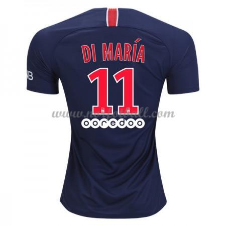 Billige Fotballdrakter Paris Saint Germain PSG 2018-19 Di Maria 11 Hjemmedrakt Kortermet