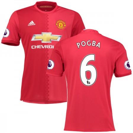 Billige Fotballdrakter Manchester United 2016-17 Paul Pogba 6 Hjemme Draktsett Kortermet