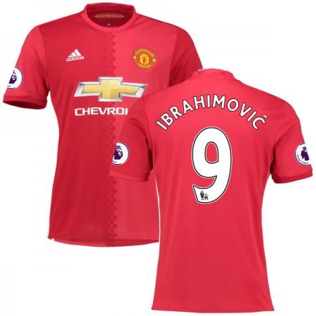 Billige Fotballdrakter Manchester United 2016-17 Zlatan Ibrahimovic 9 Hjemme Draktsett Kortermet