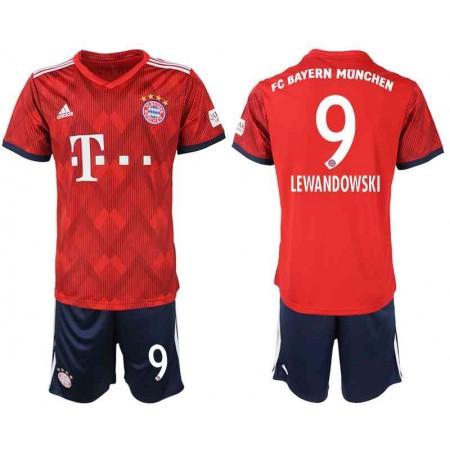 Billige Fotballdrakter Bayern München Barn 2018-19 Robert Lewandowski 9 Hjemme Draktsett Fotball Kortermet
